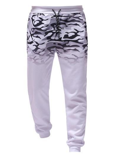 Gradient Printed Zipper Hip-hop Hoodie Sets
