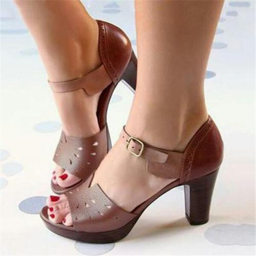 Women's Summer Fish Mouth High Heel Large Size Shoes