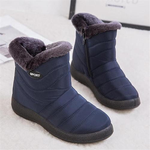 Women's Casual Winter Warm Plush Lined Waterproof Ankle Snow Boots