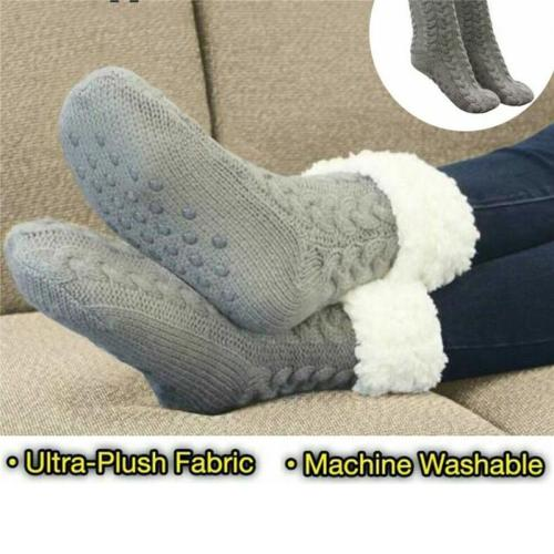 Unisex Warm Soft Ultra-Plush Anti-Slip Grips Huggle Slipper Socks