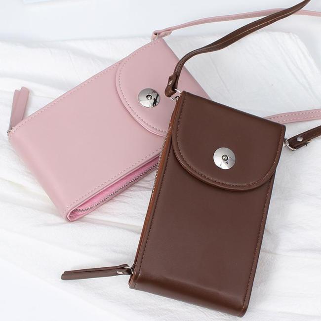 Vintage PU Universal Shoulder Phone Bag