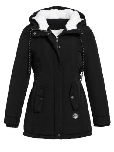 Winter Classic Cozy Slim Fit Thicken Plush Hooded Padded Coat