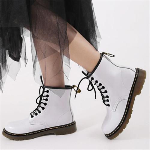 Unisex Stylish Round Toe Genuine Leather Lace Up Non-Slip Boots