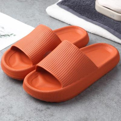 Unisex Ultra-Soft Footbed Open-Toe Non-Slip Thick-Sole Flat Slippers