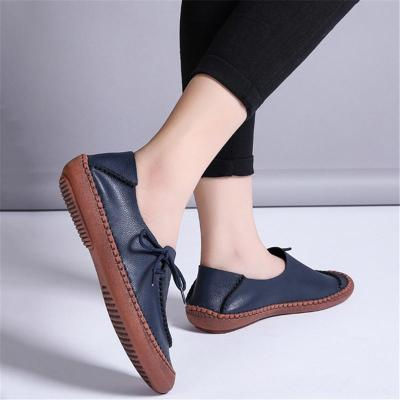 Flat Heel Lightweight Cowhide Low-Cut Non-Slip Loafers