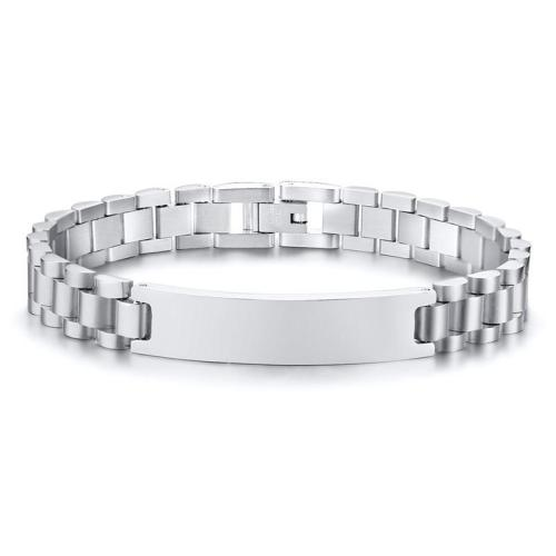 Men's High Polished Stainless Steel Bracelet Wristband