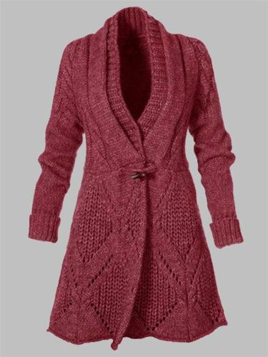 Relaxed Fit Knitted Cardigan Sweater Coat