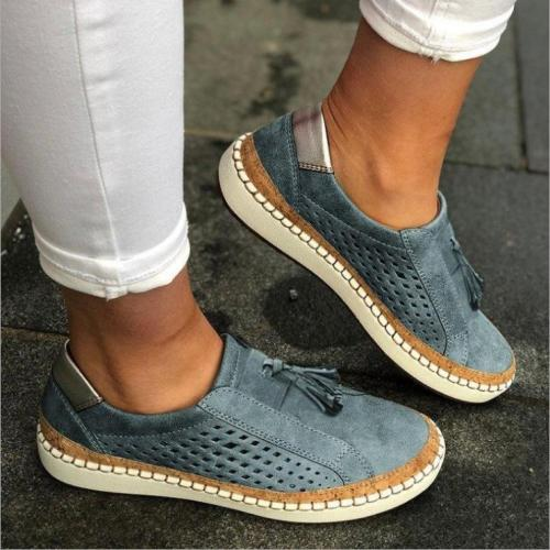 Women's Breathable Hollow Soft Flat Sneakers