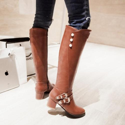 Vintage Chunky Heel High Martin Boots