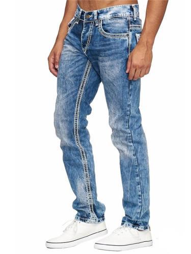 Men's Casual Straight Denim Pants
