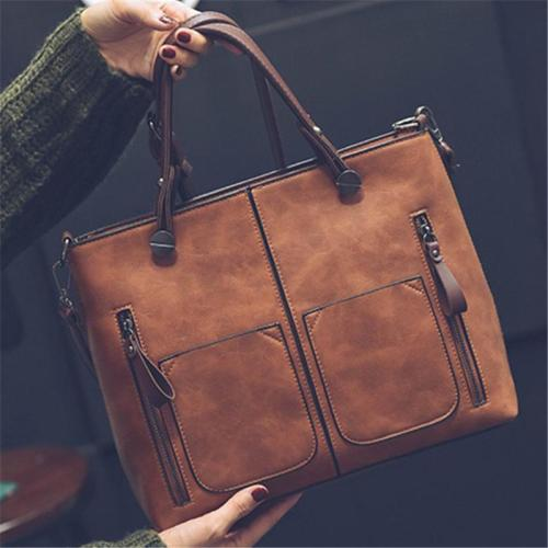 Retro Style Multi-Pocket Handbag Adjustable Crossbody Bag