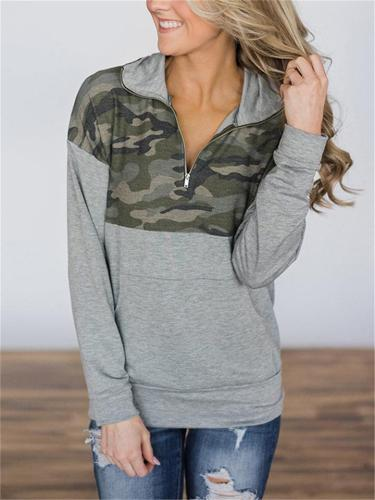 Comfortable Quarter Zip Front Pocket Sweatshirt