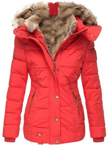 Winter Ultra Warm Fur  Thicken Coat With Hood