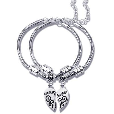 Beautiful Mother And Daughter Heart Bracelet