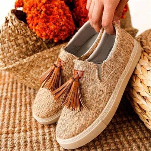 Casual Tassel Ornament Slip-on Shoes For Women