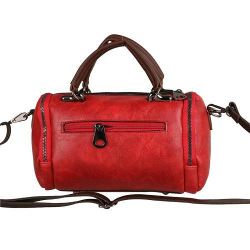 Retro Style Floral Deco Zipper Handbag Adjustable Crossbody Bag