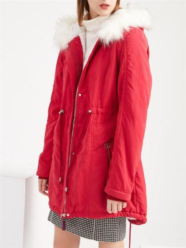 Winter Warm Lined Fleeces Padded Coat
