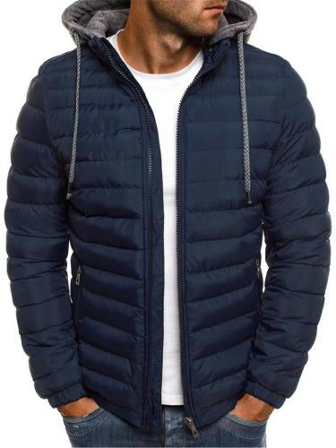 Casual Cozy Thickened Zipper-Up Cotton-Padded Hooded Coat