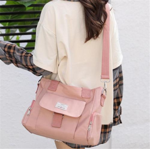 Large Capacity Waterproof Canvas Multi-Pocket Crossbody Bag