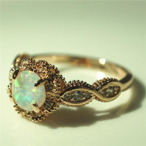 Stunning Gemstone Vibrant White Fire Opal Ring