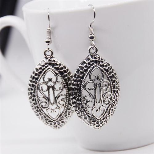 Simple Classical Alloy Rune Hollow Dangle Earrings