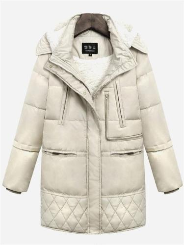 Super Cozy Warm Wool Lined Puffer Coat With Detachable Hood