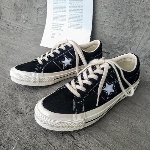 Slip On Fashion Star Canvas Flat Heel Shoes
