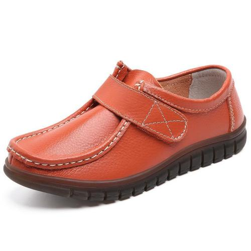 Cozy Genuine Leather Soft-Soled Flat Loafers