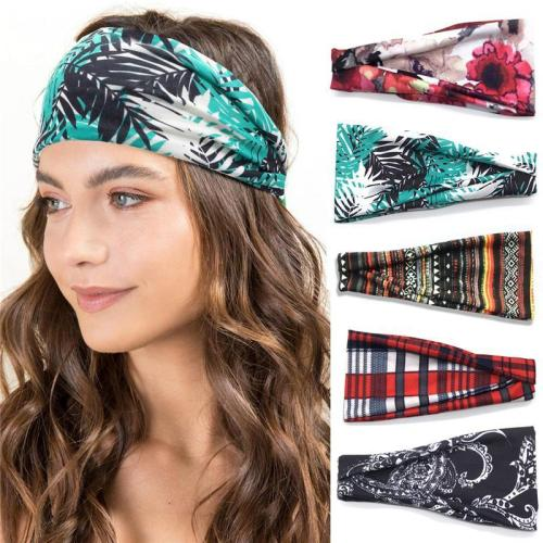 Women's Sweat Absorbing Print Yoga Running Headbands