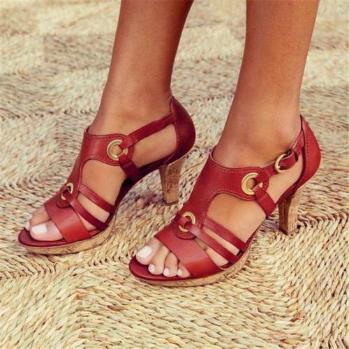 Women's Elegant Buckle Strap Sandals