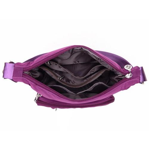 Casual Style Multi-Pocket Waterproof Large Capacity Zipper Crossbody Bag
