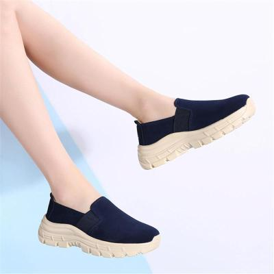 Comfortable Low-Cut Suede Thick-Sole Non-Slip Loafers