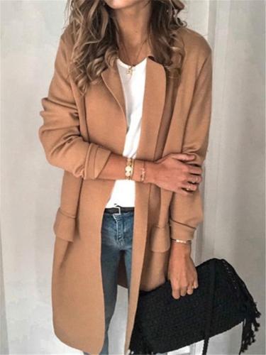 Women's Solid Color Casual Suit Jacket