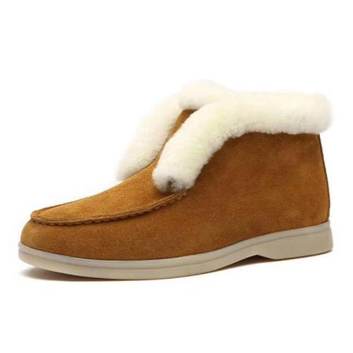 Women's Ultra Cozy Wear Resistant Faux Fur Lined Wedge Boots