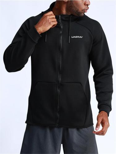 Men's Comfy Sporty Zipper-Up Hooded Sweatshirts