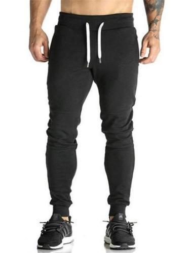 Men's Drawstring Cotton Slim Sports Pants