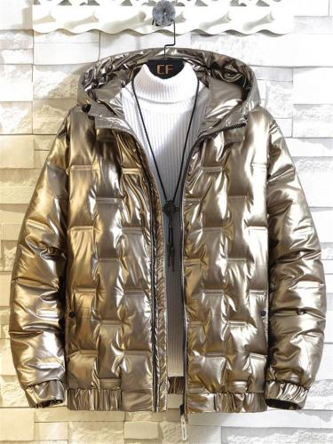 Mens Warm Waterproof Puffer Coat With Hood