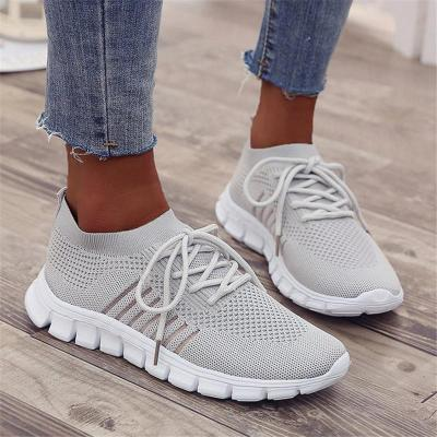 Breathable Low-Cut Non-Slip Lace Up Mesh Sneakers