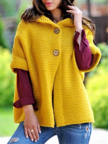 Women's Beautiful 1/2 Sleeve Buttoned Sweater