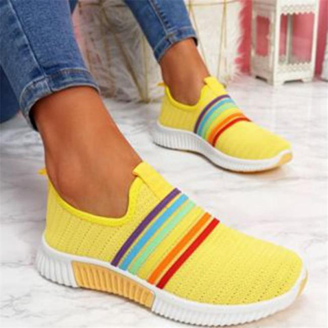 Color Block Fabric Casual Mesh Sneakers