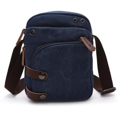 Men's Lightweight Multi-Pocket Zipper Adjustable Strap Crossbody Bag