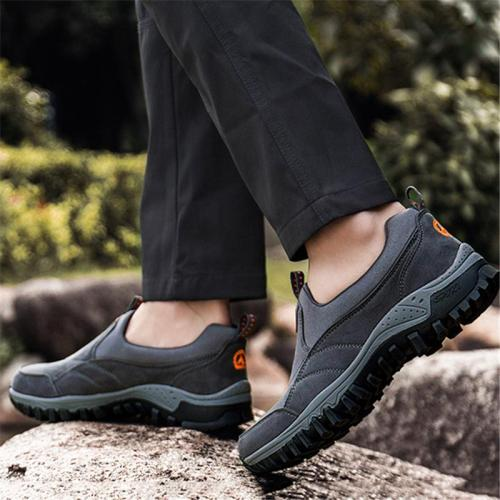 Soft Footbed Breathable Low-Cut Slip-On Hiking Walking Shoes