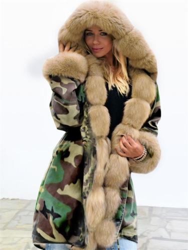 Women's Winter Warm Faux Fur Chubby Long Sleeve Jacket Coats