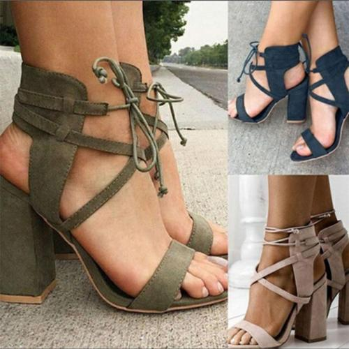 Women's High Heel Ankle Strap Shoes