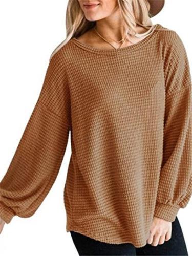 Women Casual Puff LongSleeve Shirts