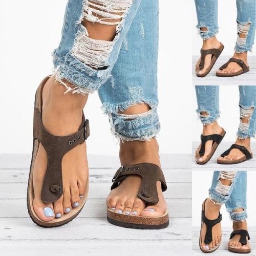 Women's Fashion Casual Style Open Toe Flip Flop Slippers
