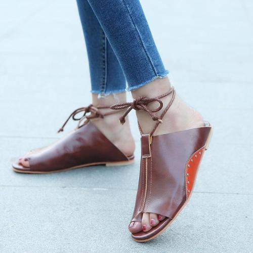 Soft Footbed Ankle Strap Ring Toe Sandals