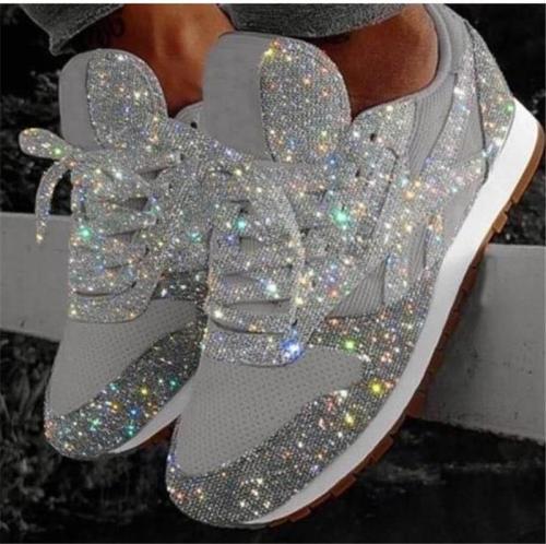 Women's Beautiful Fashion Breathable Shining Sneakers