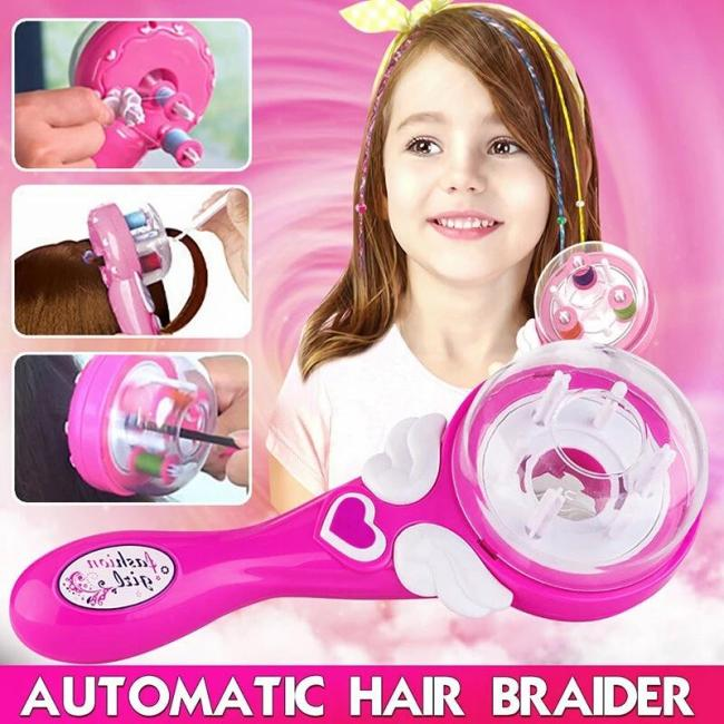 Girl's Automatic Safe-Design Hair Braider Machine DIY Hair Styling Tools