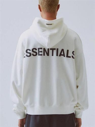 Unisex Loose Fit Essentials Front Pocket Hooded Sweatshirt